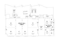 三楼宴会厅平面图