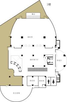 InterContinental Shanghai Pudong会议场地-2楼平面图