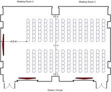 会议室4 5 - 168人剧院