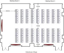 会议室4 5 - 108人课桌